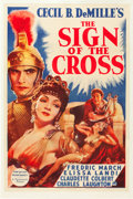 "Movie Posters:Drama, The Sign of the Cross (Paramount, R-1938). One Sheet (27"" X 41"")Style A.. From the Leonard and Alice Maltin Collection...."