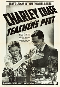 "Teacher's Pest (Columbia, 1939). One Sheet (27"" X 41""). From the Leonard and Alice Maltin Collection"