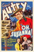 "Movie Posters:Western, Oh, Susanna! (Republic, 1936). One Sheet (27"" X 41"").. ..."
