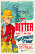 "Movie Posters:Western, Westbound Stage (Monogram, 1939). One Sheet (27"" X 41"").. ..."