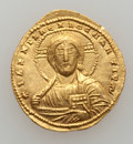 Ancients:Byzantine, Ancients: Nicephorus II Phocas (AD 963-969) with Basil II. AVhistamenon nomisma (21mm, 4.57 gm, 6h). ...