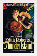 "Movie Posters:Drama, Thunder Island (Universal Film Manufacturing, 1921). One Sheet (27""X 41"").. ..."