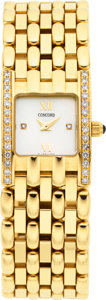 Estate Jewelry:Watches, Concord Lady's Diamond, Gold Veneto Mini Wristwatch, modern. ...