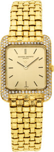 Estate Jewelry:Watches, Vacheron Constantin Lady's Diamond, Gold Wristwatch. ...