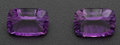 Estate Jewelry:Unmounted Gemstones, Two Purple Amethyst Unmounted Gemstone. ... (Total: 2 Items)