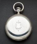 Timepieces:Pocket (pre 1900) , Waltham Civil War Period Wm. Ellery Silver Key Wind. ...