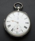 Timepieces:Pocket (pre 1900) , John Forrest London Silver Lever Fusee. ...