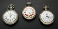 Timepieces:Pocket (pre 1900) , Three 45 mm Roskopf Pocket Watches. ... (Total: 3 Items)