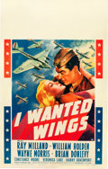 "Movie Posters:War, I Wanted Wings (Paramount, 1941). Window Card (14"" X 22"").. ..."