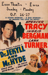 """Dr. Jekyll and Mr. Hyde (MGM, 1941). Window Card (14"""" X 22"""")"""