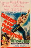 "Movie Posters:Adventure, Tarzan's New York Adventure (MGM, 1942). Window Card (14"" X 22"")....."