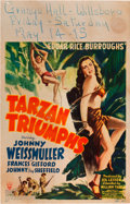 "Movie Posters:Adventure, Tarzan Triumphs (RKO, 1943). Window Card (14"" X 22"").. ..."