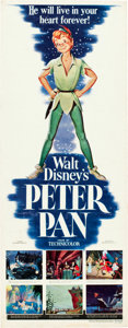 "Movie Posters:Animation, Peter Pan (RKO, 1953). Insert (14"" X 36"").. ..."