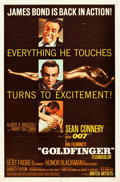"Movie Posters:James Bond, Goldfinger (United Artists, 1964). One Sheet (27"" X 41"") Matte Style.. ..."