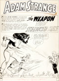 Original Comic Art:Splash Pages, Carmine Infantino and Murphy Anderson Mystery in Space #63Splash Page 1 Original Art (DC, 1960)....