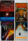 Books:Science Fiction & Fantasy, [Jerry Weist]. Frederik Pohl. Group of Four First Editions, Two Signed or Inscribed. TOR, 1994-2005. Voices of Heaven... (Total: 4 Items)