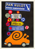 "Movie Posters:Comedy, Trafic (Mr. Hulot) (Oceania, 1973). Polish One Sheet (23"" X32.75"").. ..."