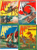 Pulps:Science Fiction, Amazing Stories/Amazing Stories Quarterly Group (Ziff-Davis,1926-33) Condition: Average VG.... (Total: 7 Items)