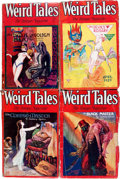 Pulps:Horror, Weird Tales Group (Popular Fiction, 1929) Condition: Average GD/VG.... (Total: 7 Items)