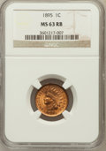 Indian Cents: , 1895 1C MS63 Red and Brown NGC. NGC Census: (54/261). PCGSPopulation (120/243). Mintage: 38,343,636. Numismedia Wsl. Price...