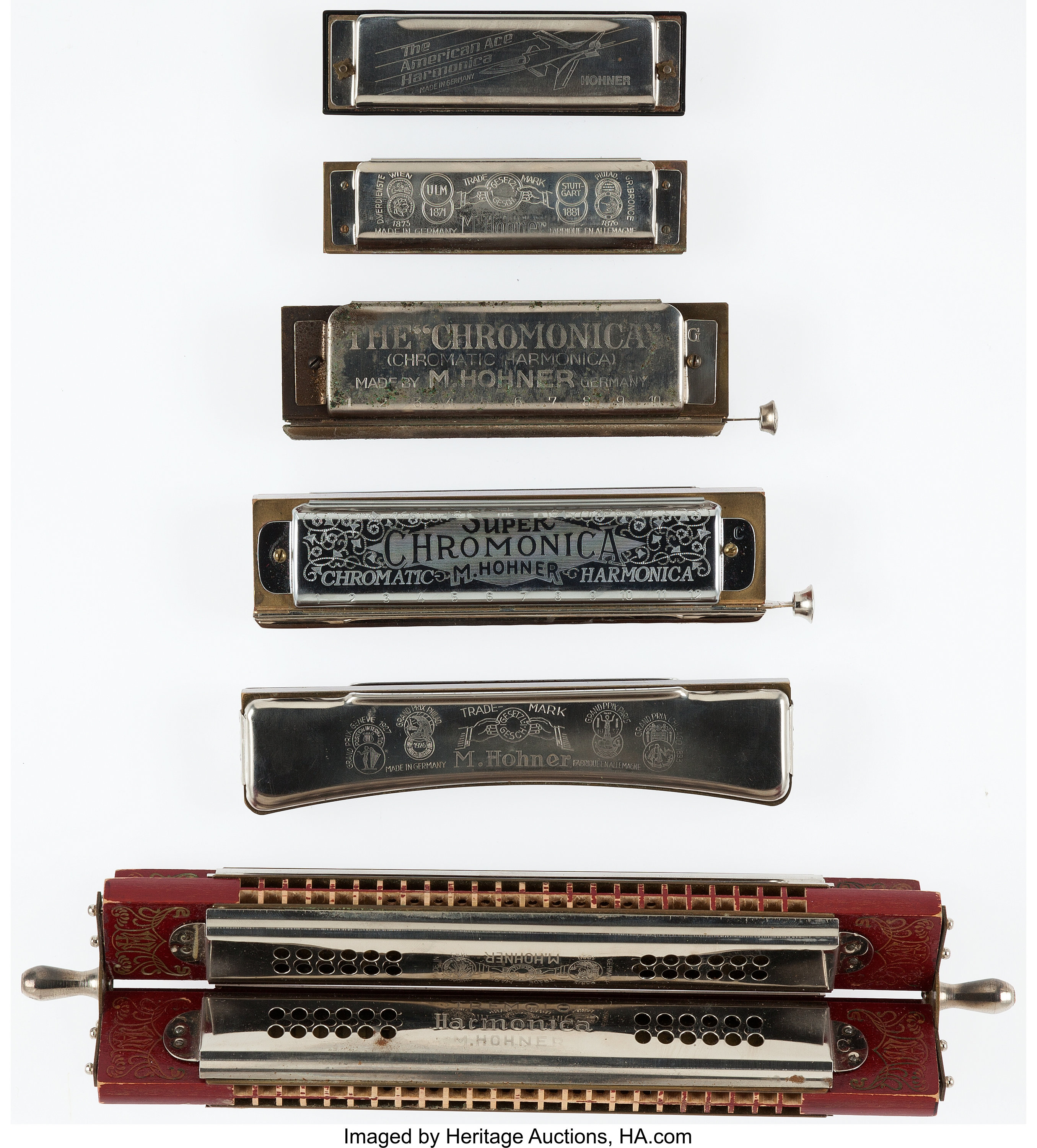 Vintage Hohner Harmonica Lot Of 6