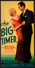 "The Big Timer (Columbia, 1932). Trimmed Midget Window Card (6.25"" X 12.25""). Sports"
