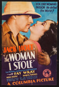 "Movie Posters:Action, The Woman I Stole (Columbia, 1933). Trimmed Midget Window Card(7.5"" X 11.25""). Action.. ..."