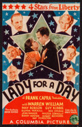 "Movie Posters:Comedy, Lady for a Day (Columbia, 1933). Trimmed Midget Window Card (7.5"" X11.5""). Comedy.. ..."