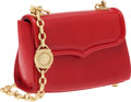Luxury Accessories:Accessories, Kieselstein Cord Red Leather Trophy Shoulder Bag with Gold Chain....