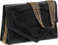 Luxury Accessories:Bags, Chanel Black Crocodile Flap Bag with Multichain Strap. ...