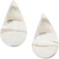 Luxury Accessories:Accessories, Patricia Von Musulin Lucite Teardrop Earrings. ...