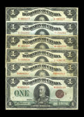 Canadian Currency: , DC-25d; e; f; g; i; k $1 1923.. Six different notes ranging in grades from Very Good to Very Fine. The best note of ... (Total: 6 notes)