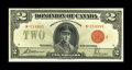 Canadian Currency: , DC-26g $2 1923.. Nice color enhances this $2. A tiny edge nick isalso noticed. About Uncirculated.. From The Halton L...