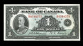 Canadian Currency: , BC-1 $1 1935. An About Uncirculated Series B 1935 English Text $1.. From The Halton Lake Collection...
