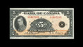 Canadian Currency: , BC-5 $5 1935. A very bright English Text $5 note from the HaltonLake collection. Crisp Uncirculated, with the left marg...