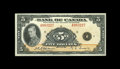 Canadian Currency: , BC-5 $5 1935. A lovely English Text $5 note, with one center foldstanding between this piece and a grade of Gem New. Abou...