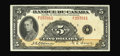 Canadian Currency: , BC-6 $5 1935. A beautifully centered example of the $5 French Text note, and a very rare note in this state of preservation....