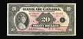 World Paper Money: , BC-9b $20 1935. This is one of a consecutive pair from the HaltonLake collection, with both of these English Text notes gra...