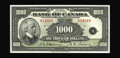 Canadian Currency: , BC-19 $1000 1935. Unlike the lower denomination notes in the 1935series, the unissued $1000 notes were not destroyed by the...