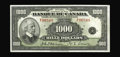 World Paper Money: , BC-20 $1000 1935. This French Text 1935 $1000 is a rare note in any grade, with a total issue of just 7600 pieces, few of wh...
