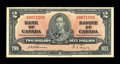 Canadian Currency: , BC-22a $2 1937.. Feels like PVC on this scarce $2. Extremely Fine..From The Halton Lake Collection...
