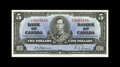 Canadian Currency: , BC-23a $5 1937. The Osborne-Towers 1937 $5 note is a very scarce item, especially in the upper grades. This piece is the nic...