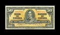 Canadian Currency: , BC-26a $50 1937.. This is the scarcest of the King George VI $50s. Problem-free Fine+.. From The Halton Lake Collectio...