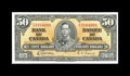 Canadian Currency: , BC-26b $50 1937.. A single fold is observed on this delightfulnote. Choice About Uncirculated.. From The Halton Lake ...
