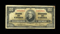 Canadian Currency: , BC-27a $100 1937.. This is the toughest of the three signaturecombinations for this bilingual design. Fine.. From The...