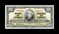 Canadian Currency: , BC-27b $100 1937.. The serial numbers exhibit strong embossing. Choice Crisp Uncirculated.. From The Halton Lake Colle...
