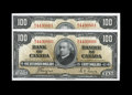 Canadian Currency: , BC-27c $100 1937. Two Consecutive Examples.. Another great pair ofHundreds just 24 notes removed from the previous lot. C... (Total:2 notes)