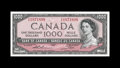 Canadian Currency: , BC44-e $1000 1954.. This $1000 is broadly margined with a light center fold and a touch more handling. About Uncirculated....