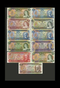 Canadian Currency: , Bank of Canada Specimen Set 1969 - 1979.. This is Specimen Set 454.Each $1; $2; $5; $5; $10; $20; $20; $50 and $100 specime... (Total:11 notes)