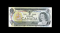 Canadian Currency: , BC-46bT $1 1973.. The EXA prefix tells us that this is anexperimental test note. A center fold is noticed. About Uncircul...